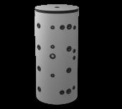 Неемайлиран буферен съд 300 л. с две черни и една неръждаема серпентина