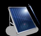 Слънчев колектор плосък, с алуминиев оребрен абсорбер, 1.5 кв.м